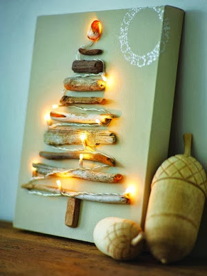 Christmas tree ideas from log and branches30