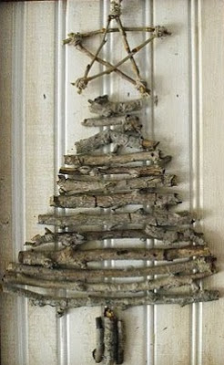 Christmas tree ideas from log and branches33