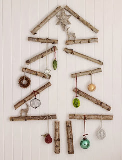 Christmas tree ideas from log and branches34
