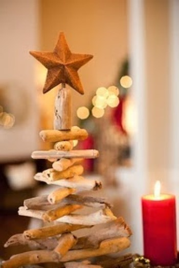 Christmas tree ideas from log and branches5
