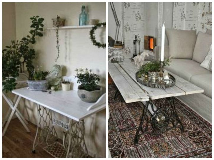 Vintage Decorations ideas with old sewing machines1