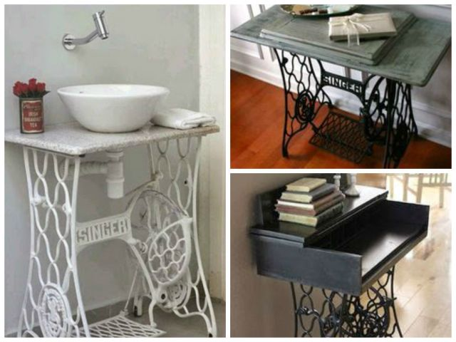 Vintage Decorations ideas with old sewing machines4