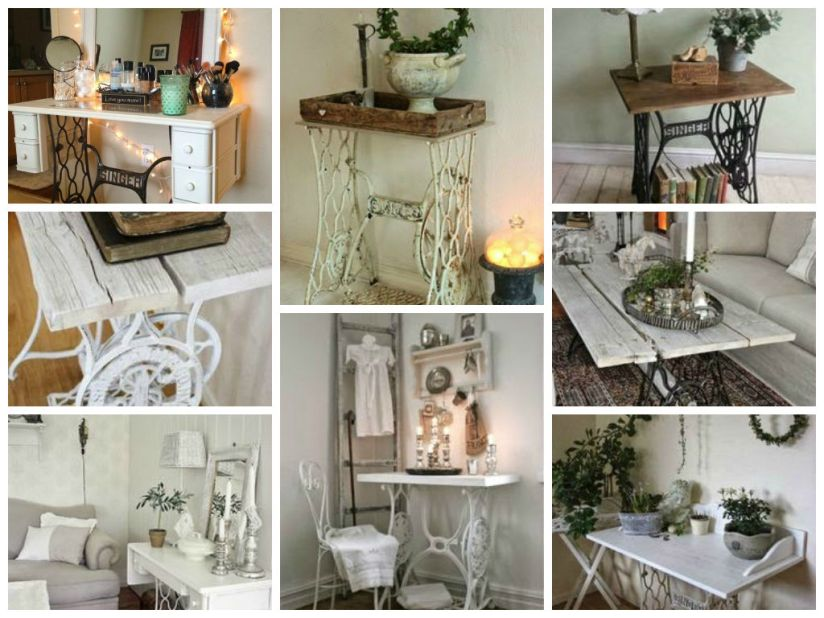 Vintage Decorations ideas with old sewing machines5
