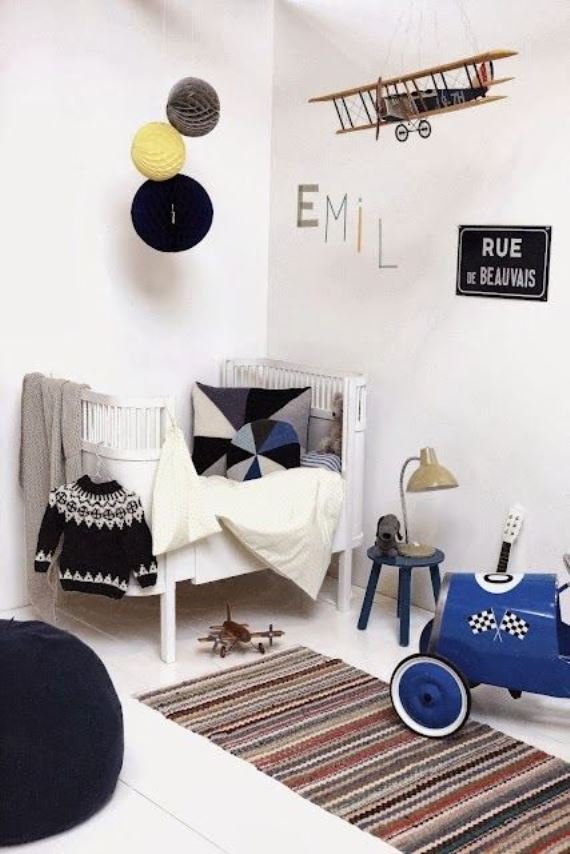 Black and white children's rooms ideas11