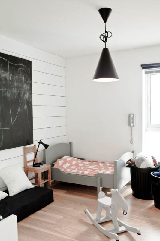 Black and white children's rooms ideas4