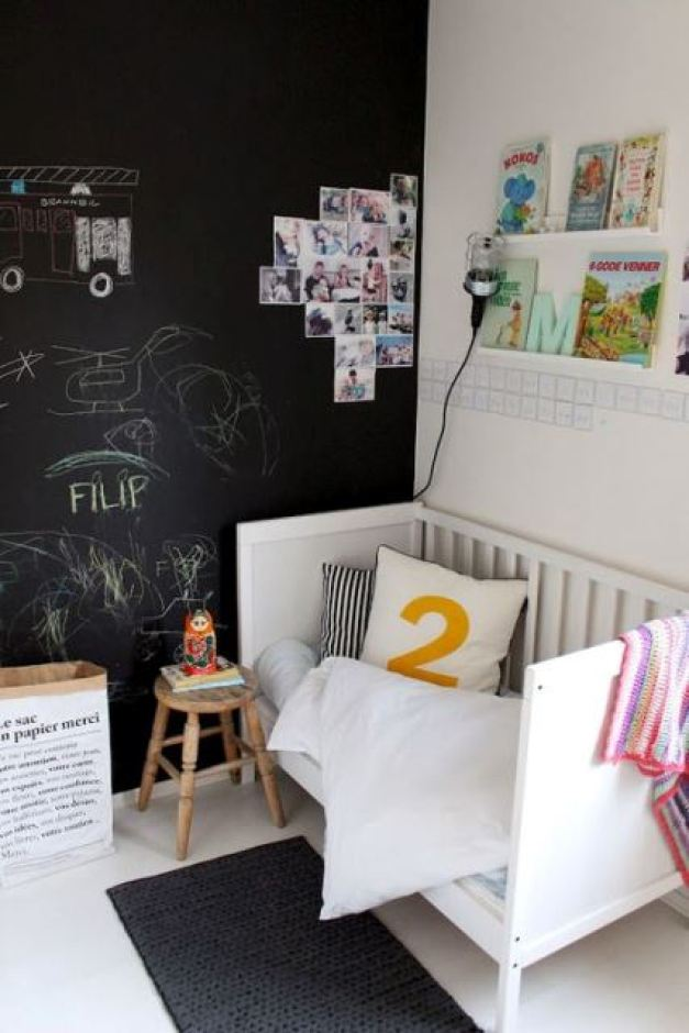 Black and white children's rooms ideas8