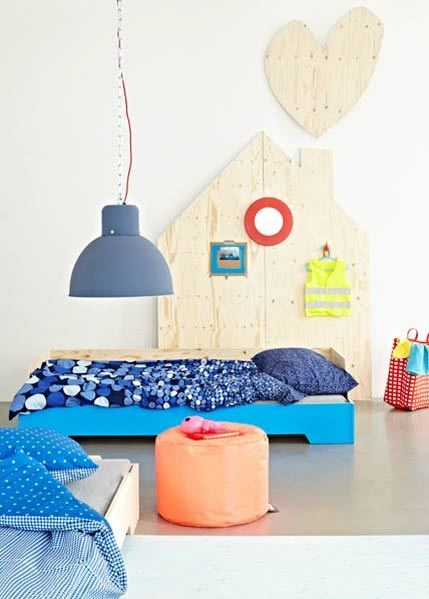 Kids rooms with color and pop details3