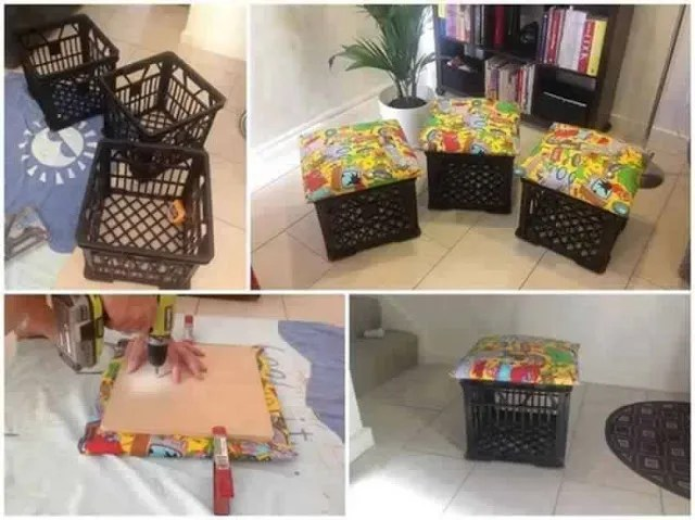 crafts with plastic crates