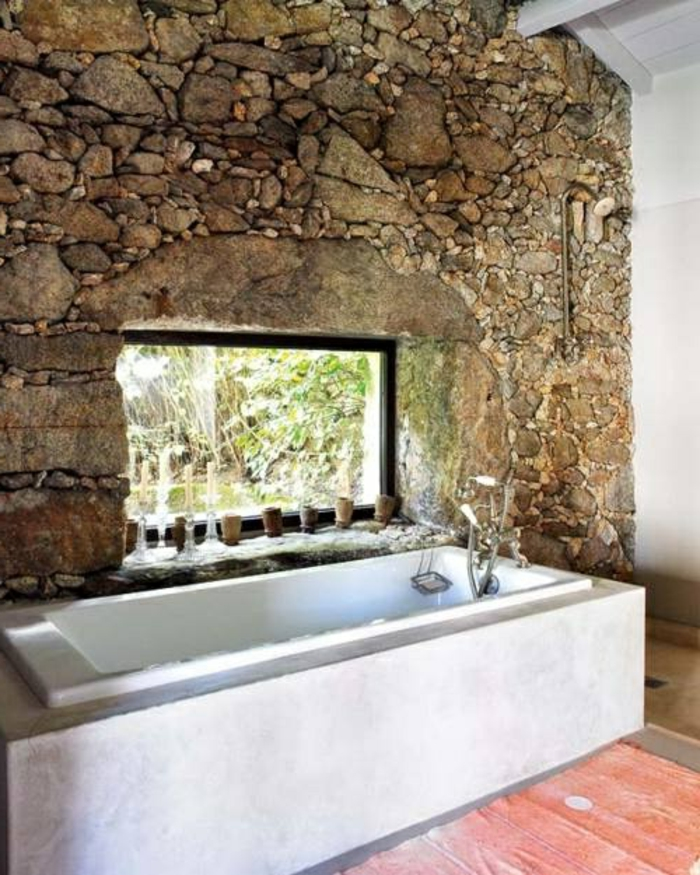 Exposed stone wall ideas31