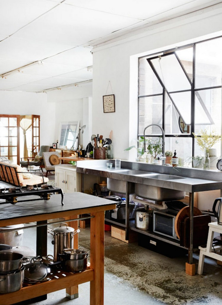 industrial kitchen ideas (19)
