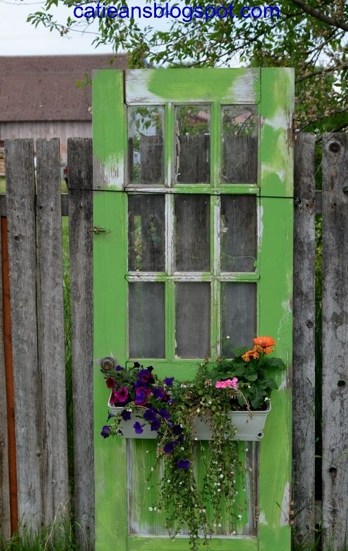 Decorate garden with recycling old doors14