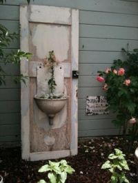 Decorate garden with recycling old doors - 20 creative ...