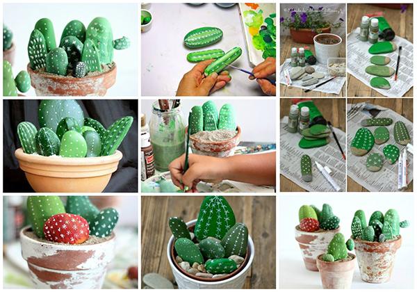 Diy Cactus from stones2