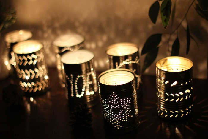 diy lanterns from metal cans15