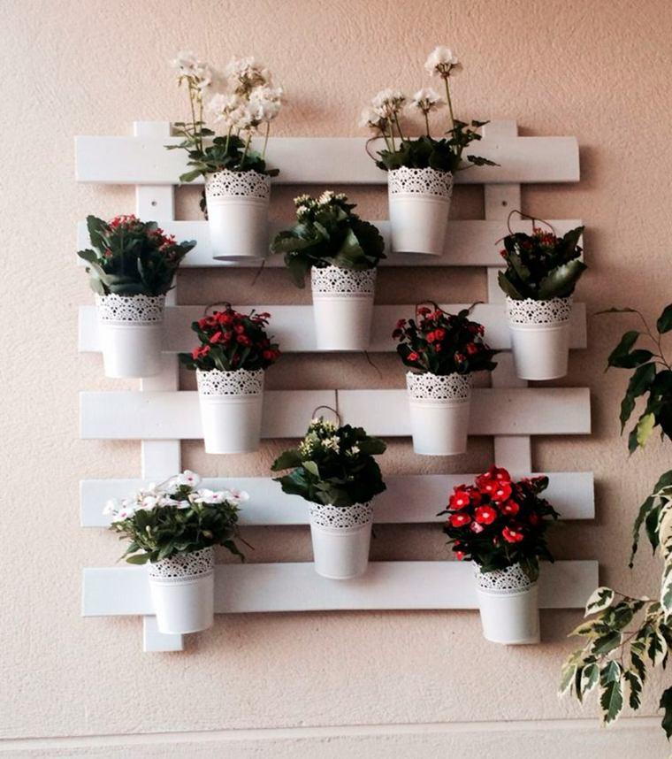 Pallet wooden planter ideas13