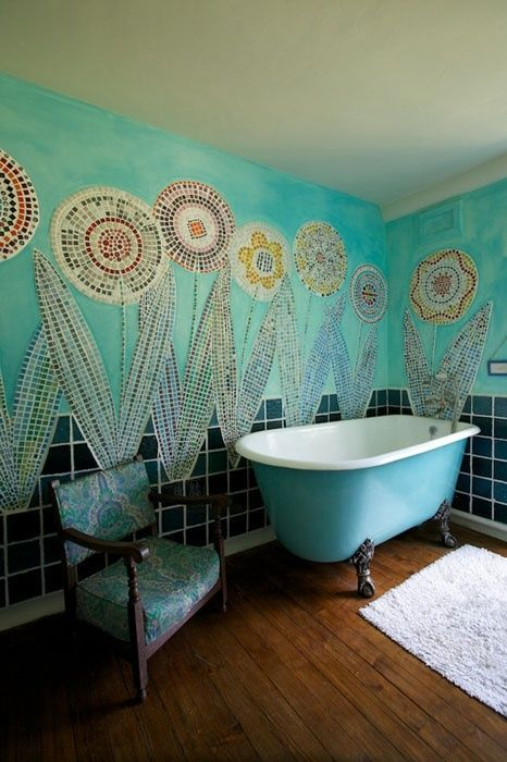 Bohemian style in the bathroom7