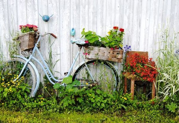 garden decorations from old bicycles16