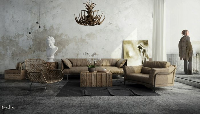 Rustic lounge ideas74
