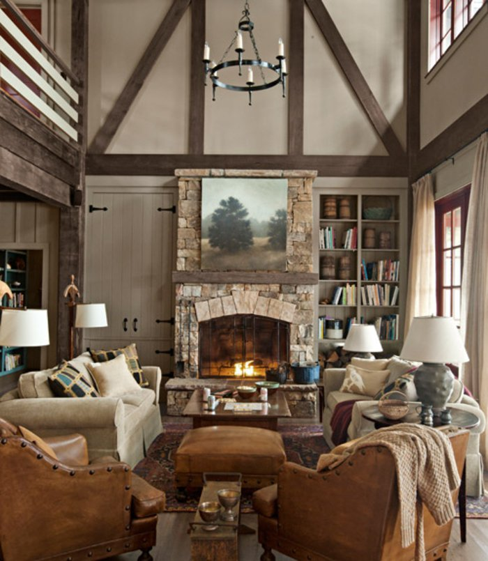 Rustic lounge ideas79