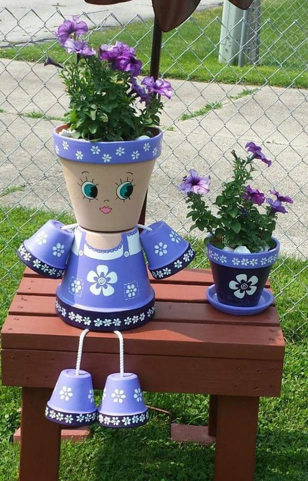 Decorations made of ceramic pots2