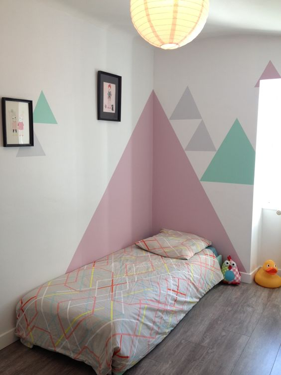 geometric shapes color wall deco4