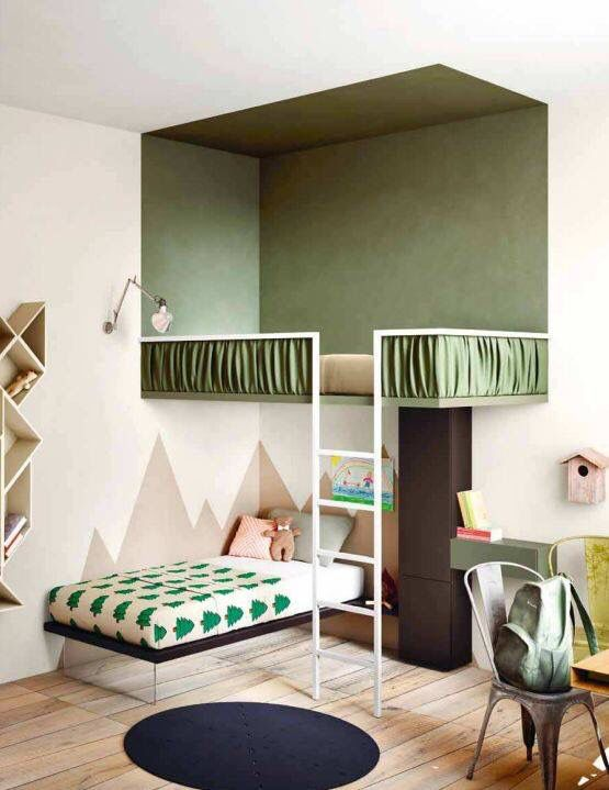geometric shapes color wall deco5