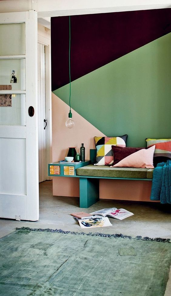 geometric shapes color wall deco7