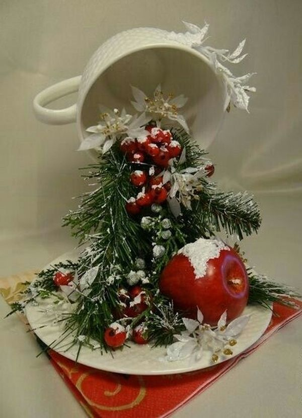 Christmas decorations with ornaments spilled from cups (11)