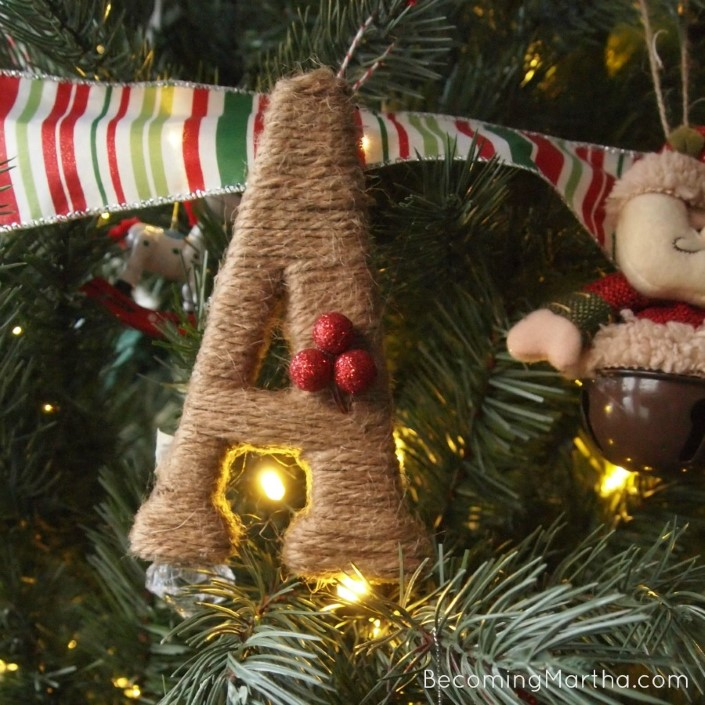 Christmas ornaments made of string (7)