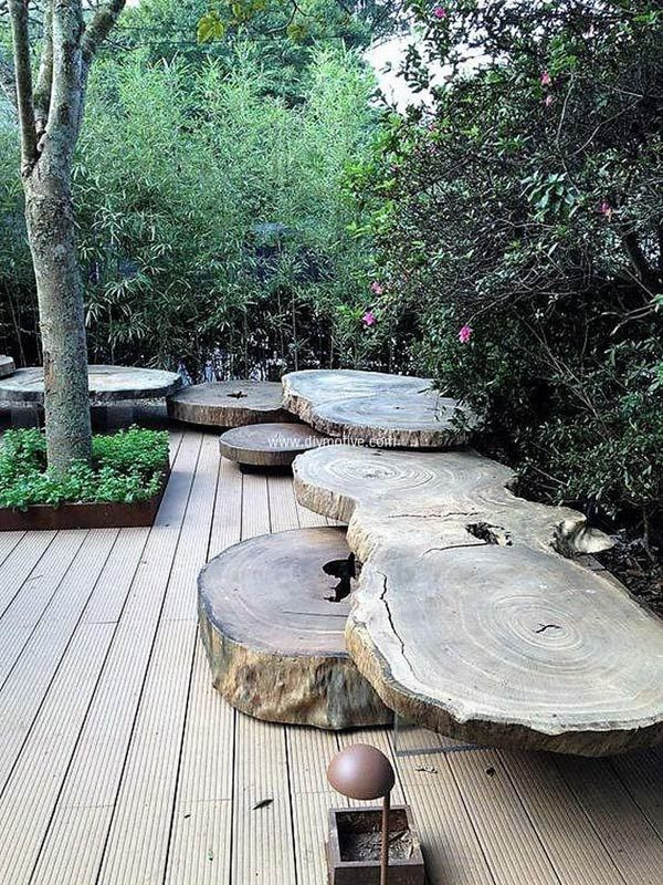 DIY projects for the garden made of wood (15)