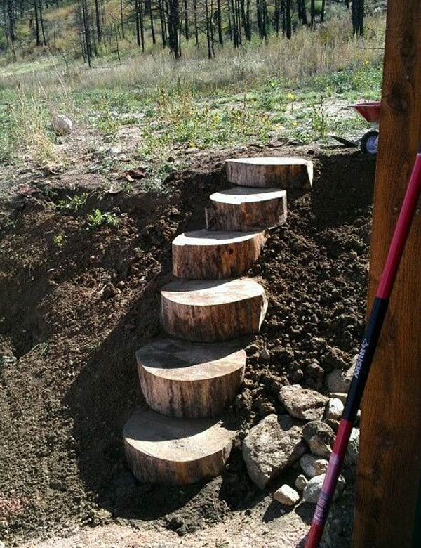 DIY projects for the garden made of wood (20)