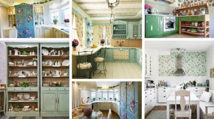 Amazing small kitchen in the style of Provence
