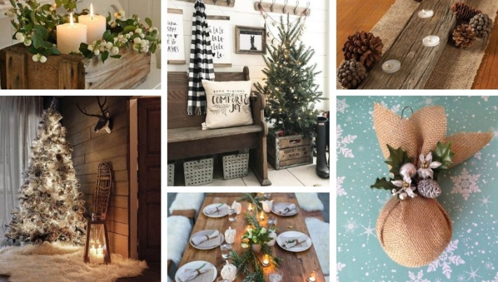 Rustic Christmas Decorating Ideas.Rustic Christmas Decoration Ideas For Warm Environments My