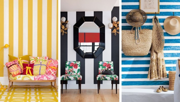 Striped Halls Dare To Paint Or Decorate Your Entrance With