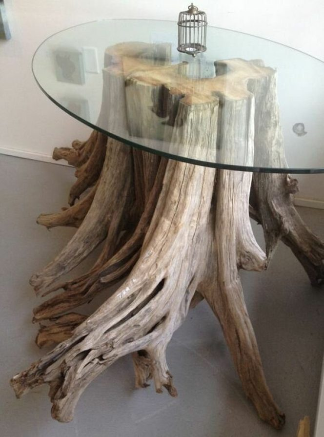 Original Simple Wooden Diy Furniture From Tree Trunks New