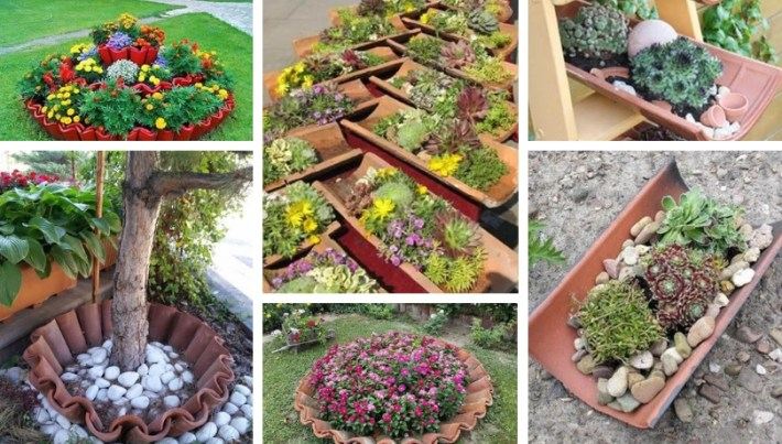 Amazing DIY garden decor with roof tiles | My desired home on Easy Diy Garden Decor id=98520