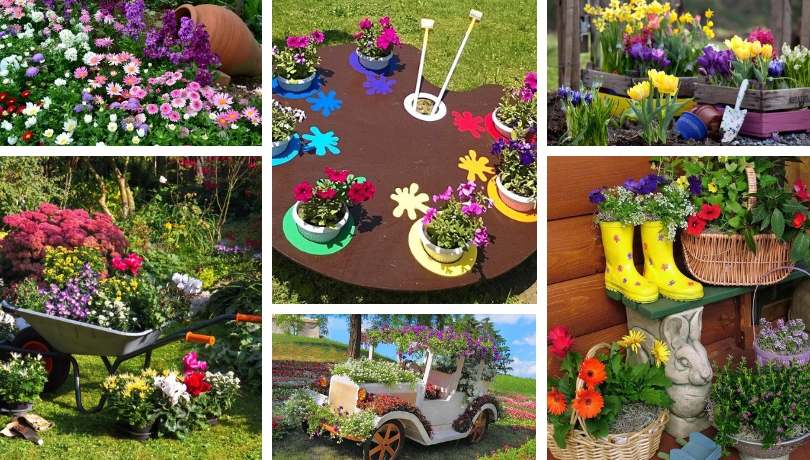 Original Ideas For Diy Flowerbeds In The Courtyard Of A Private