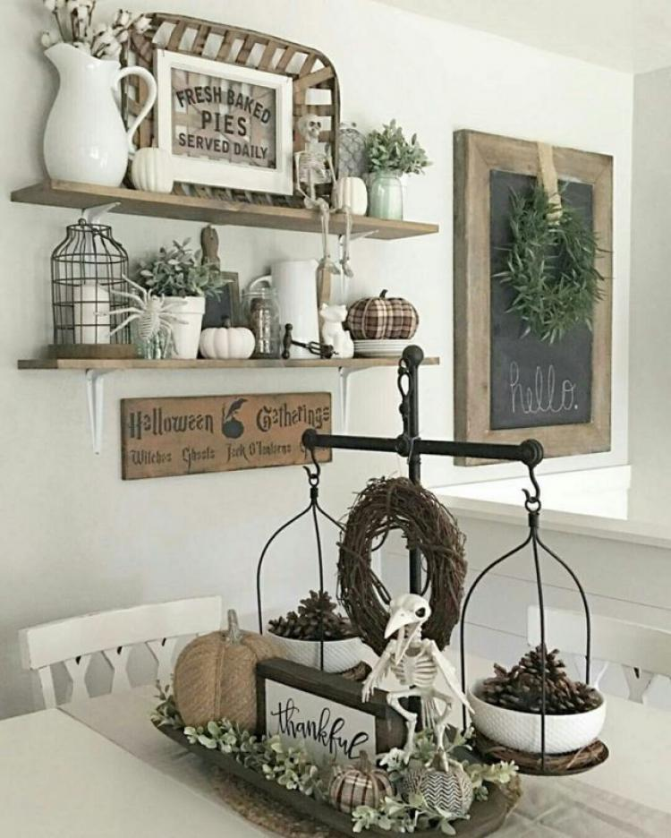 31 Rustic Diy Home Decor Projects: 34 Inspirational DIY Rustic Cottage Autumn Decorating Ideas