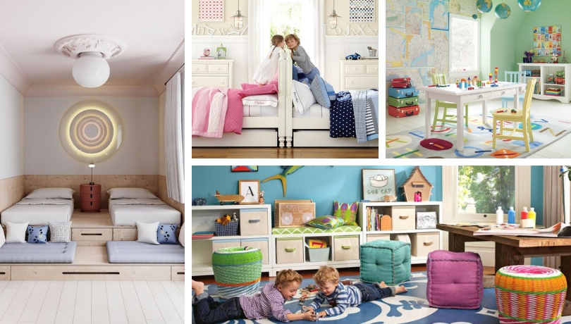 Children S Room For Two Children Layout Options And Photos Of Bright Interiors My Desired Home