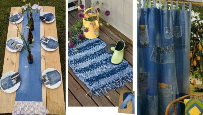 A fresh dose of inspiration with 30 amazing DIY ideas from old jeans