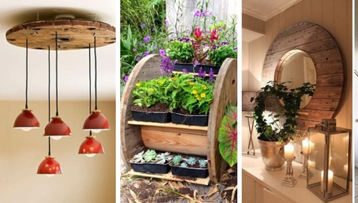 Creative DIY ideas: how to use wooden cable reels in different ways