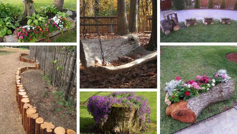 25 Great Ideas With Tree Trunks That Will Originaly Upgrade Your Garden My Desired Home
