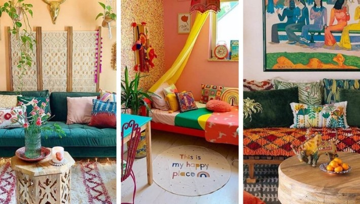 Amazing ideas with colorful living rooms in boho style