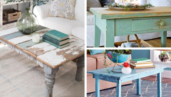 DIY Painting – Aging techniques for living room coffee tables