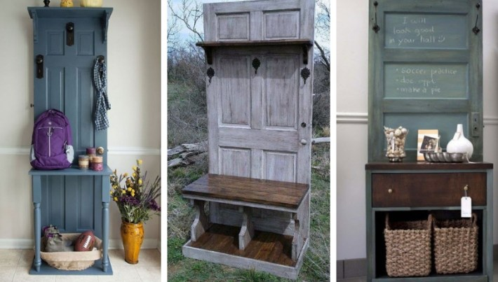 DIY Entrance furniture from old doors