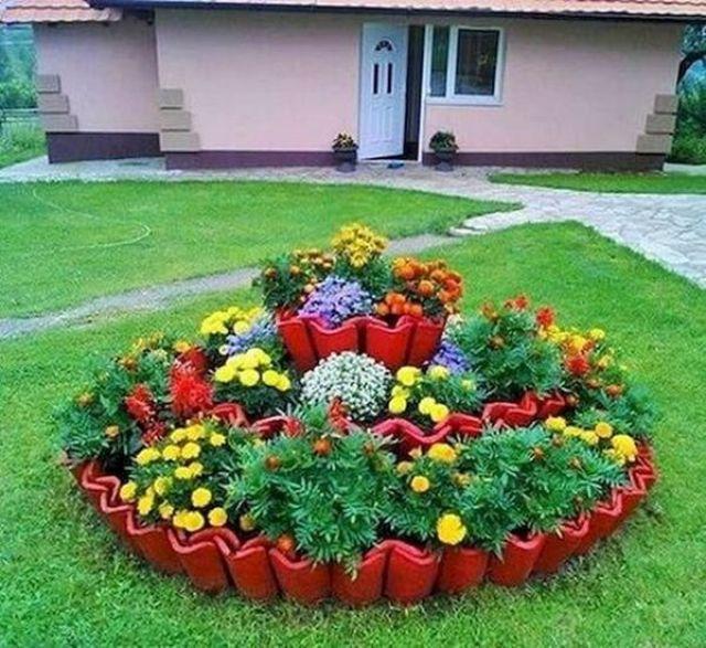 DIY craft ideas for the most wonderful flower garden 26