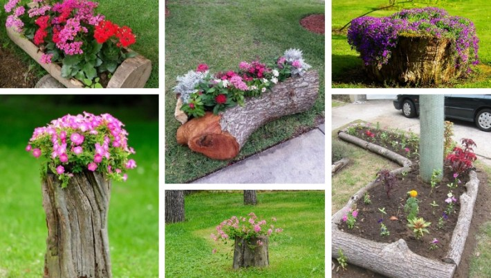 Great DIY ideas for your garden made from tree logs