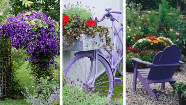 22 Fantastic garden decorations for those who love the purple color