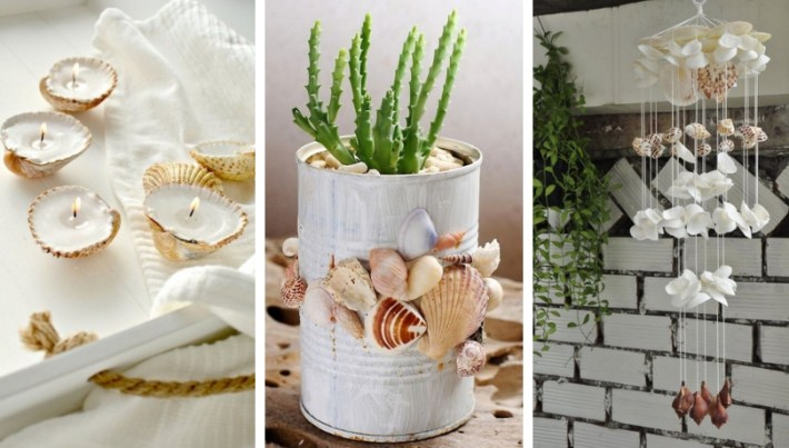 Summer DIY decoration with seashells – bring a holiday sense in your home