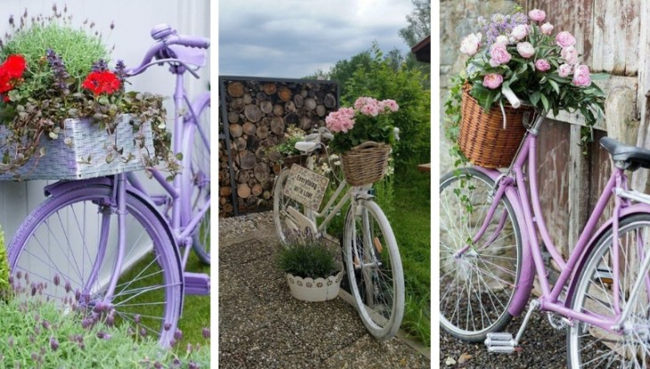 DIY pots from old bicycles that will boost the look of your garden or yard
